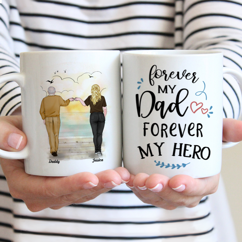 Personalized Mug - Father's Day - (W) Forever My Dad, Forever My Hero (DH) - V.2_1