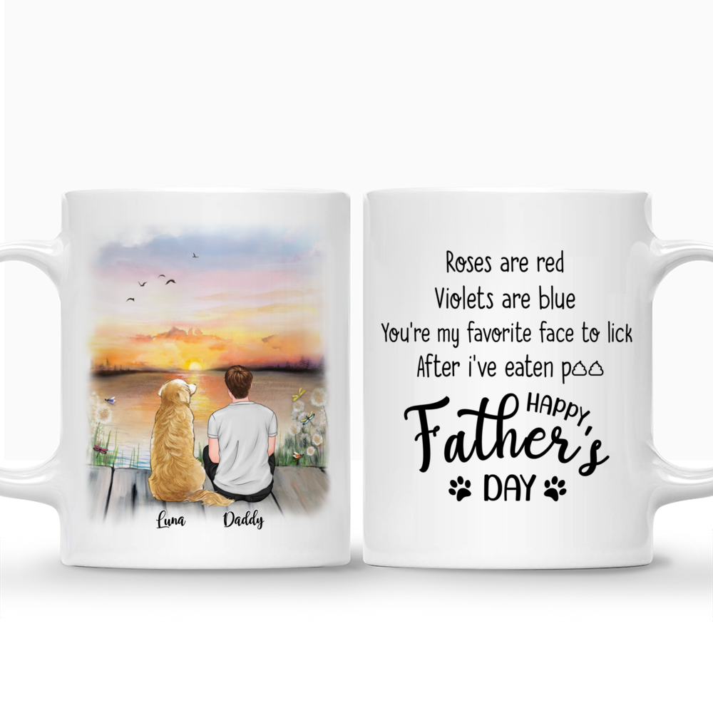 Personalized Mug - Man and Dogs - Roses are red, Violets are blue, You're my favorite face to click...(4550)_3