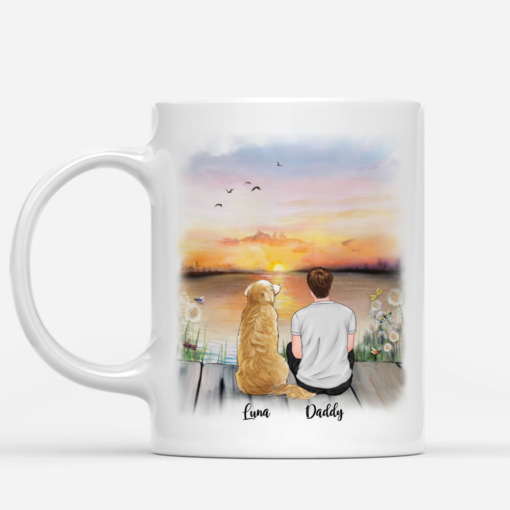Personalized Mug - Man and Dogs - Roses are red, Violets are blue, You're my favorite face to click...(4550)_1