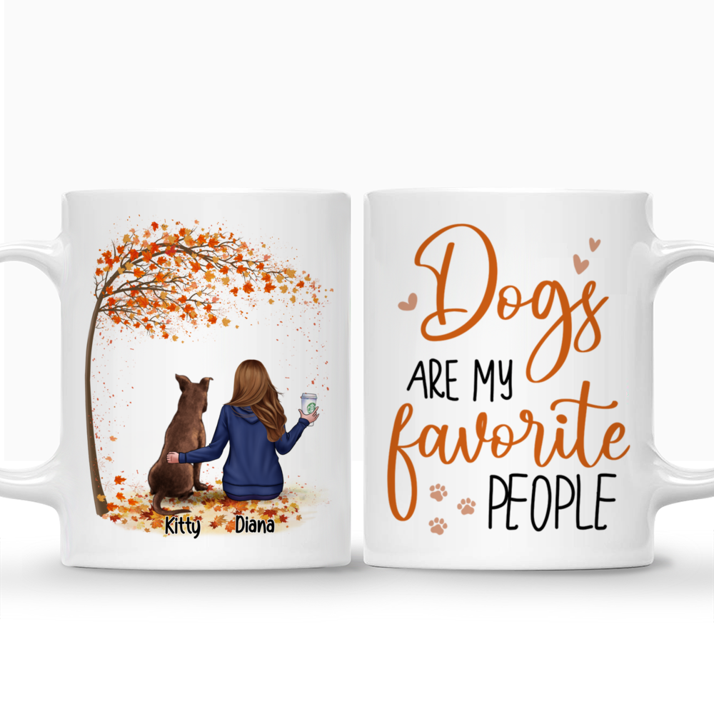 Personalized Mug - Dog Parents - Dogs are my favorite people (ver 1)_3