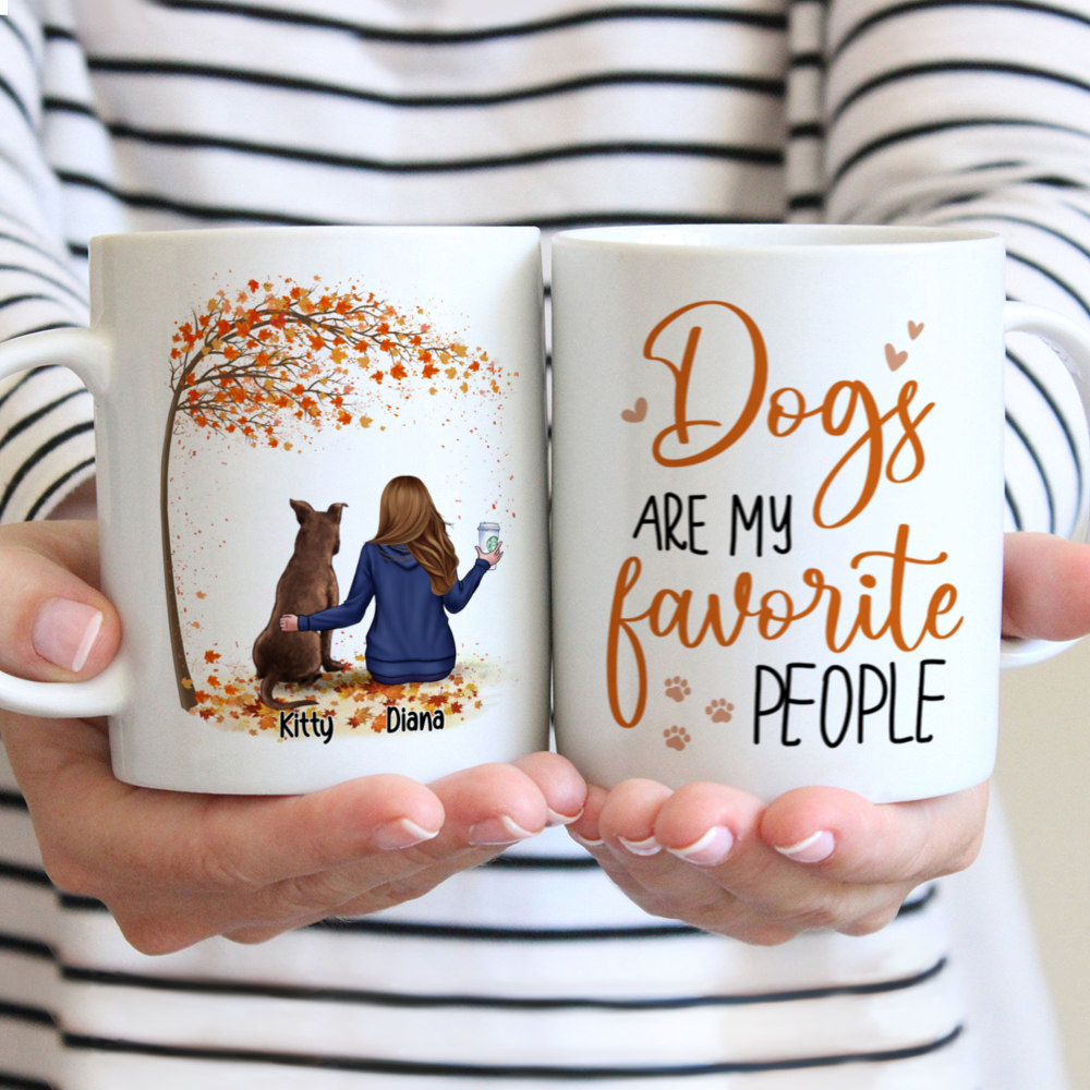 Personalized Mug - Dog Parents - Dogs are my favorite people (ver 1)