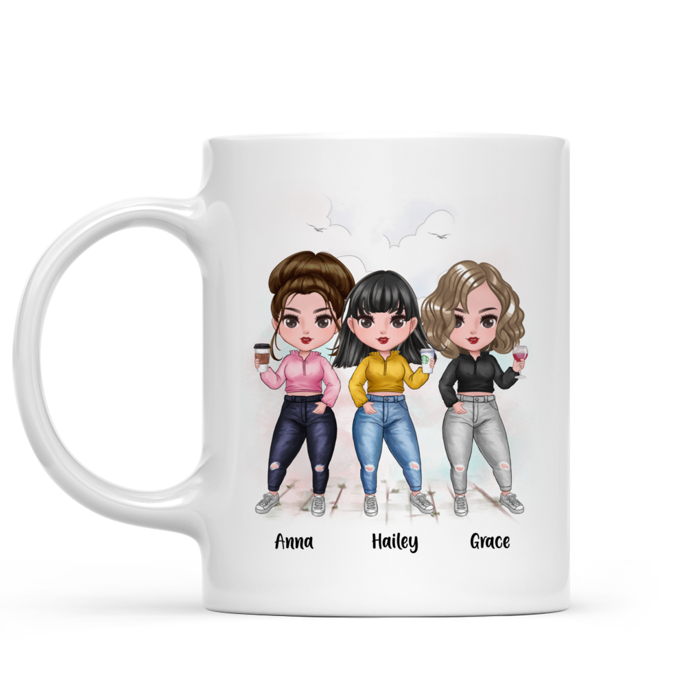 Personalized Mug - There Is No Greater Gift Than Friendship (Up to 7 Girls)_2