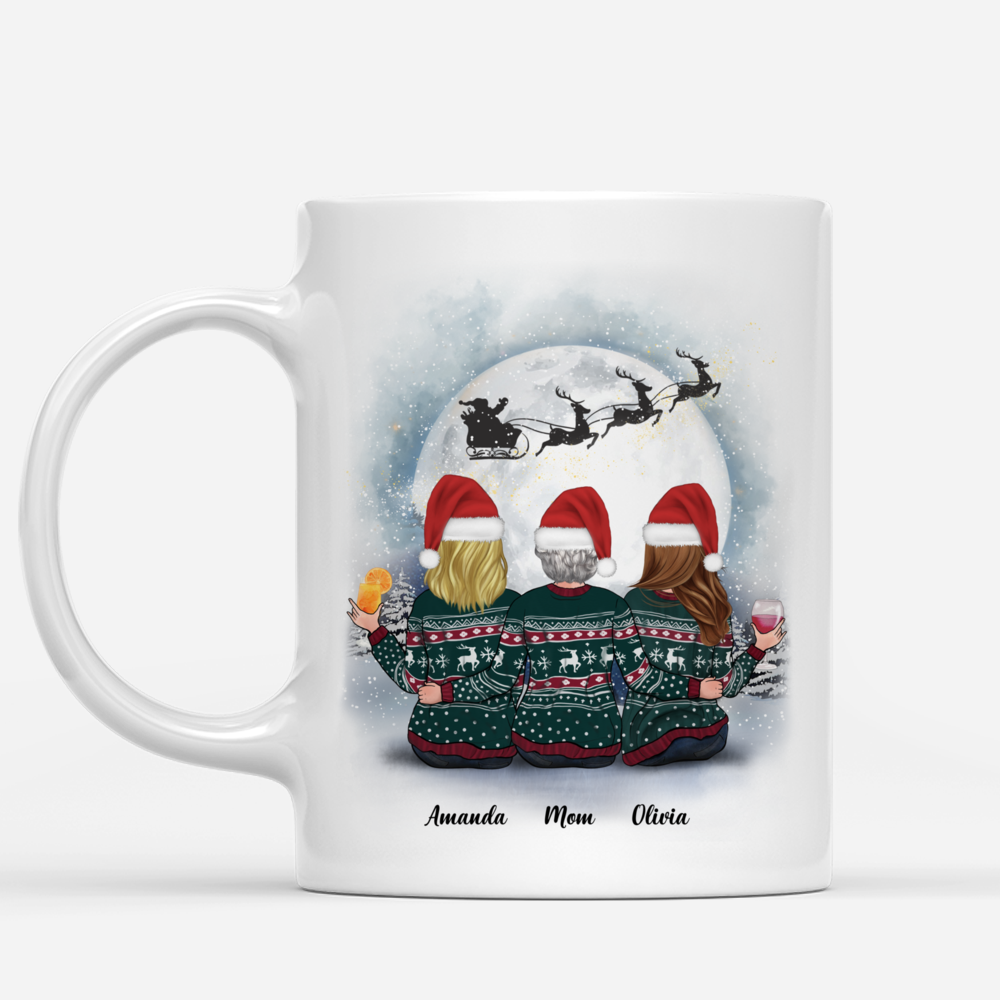Personalized Mug - Christmas Moon - Mother & Daughters Forever Linked Together (2)_1