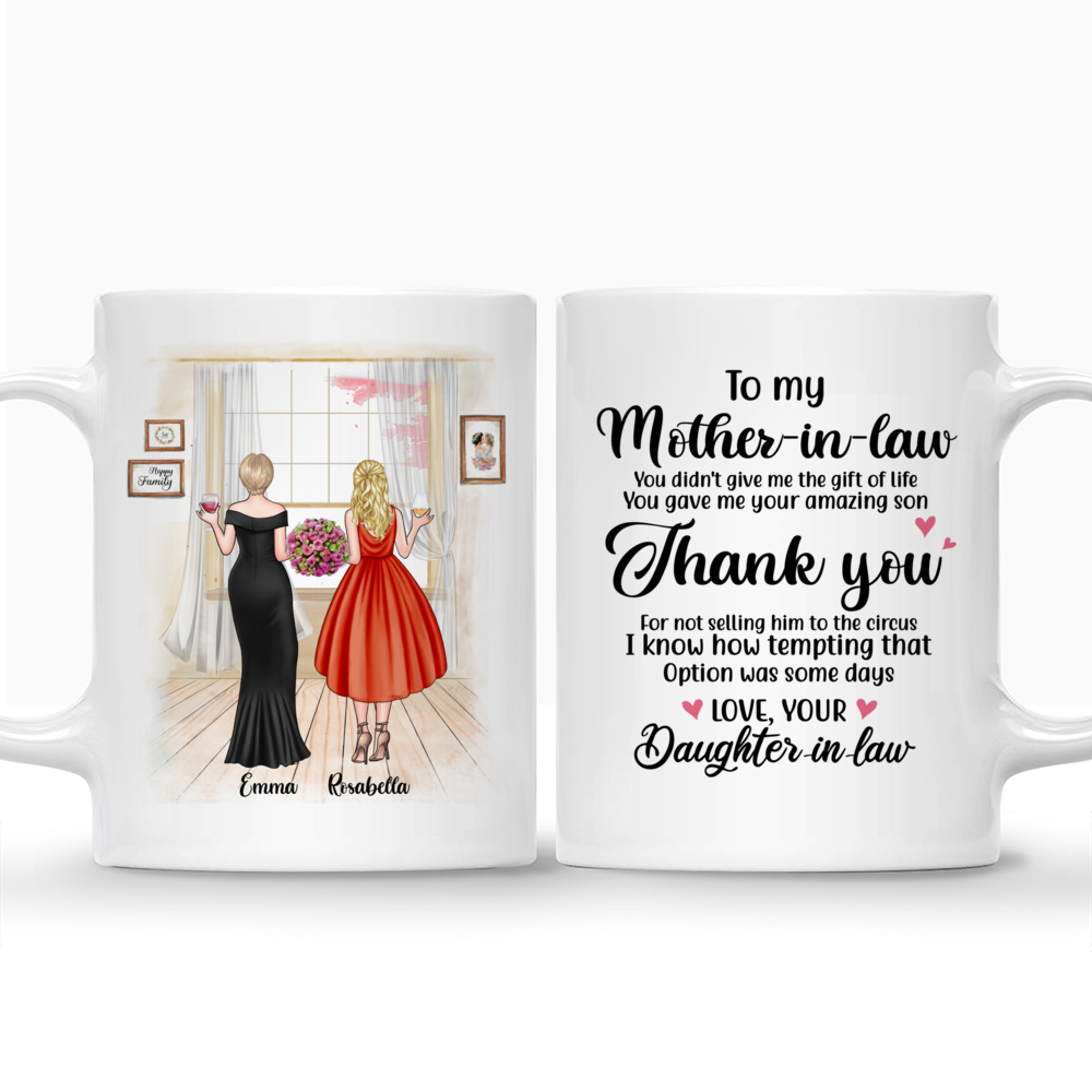 Personalized Mug - Mother & Daughter - You Gave Me Your Amazing Son_3