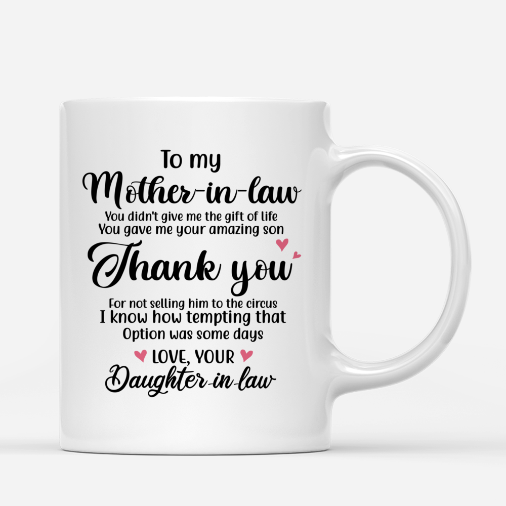 Personalized Mug - Mother & Daughter - You Gave Me Your Amazing Son_2