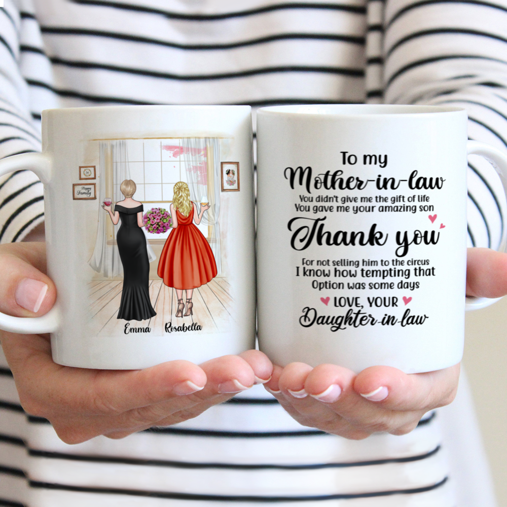 Personalized Mug - Mother & Daughter - You Gave Me Your Amazing Son