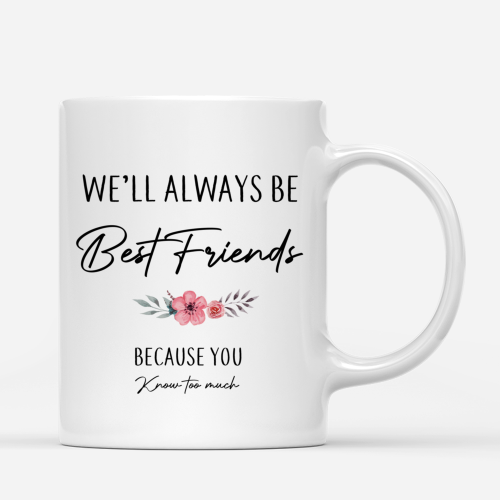 Personalized Mug - Up to 5 Women - We'll Always Be Best Friends, Because You Know Too Much_2