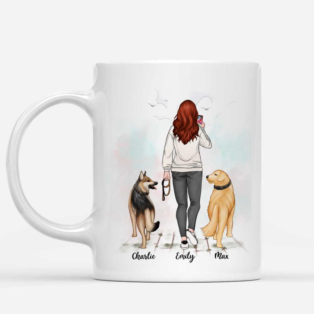 Personalized Mug - Walking Dog - Dog people are the best people_1