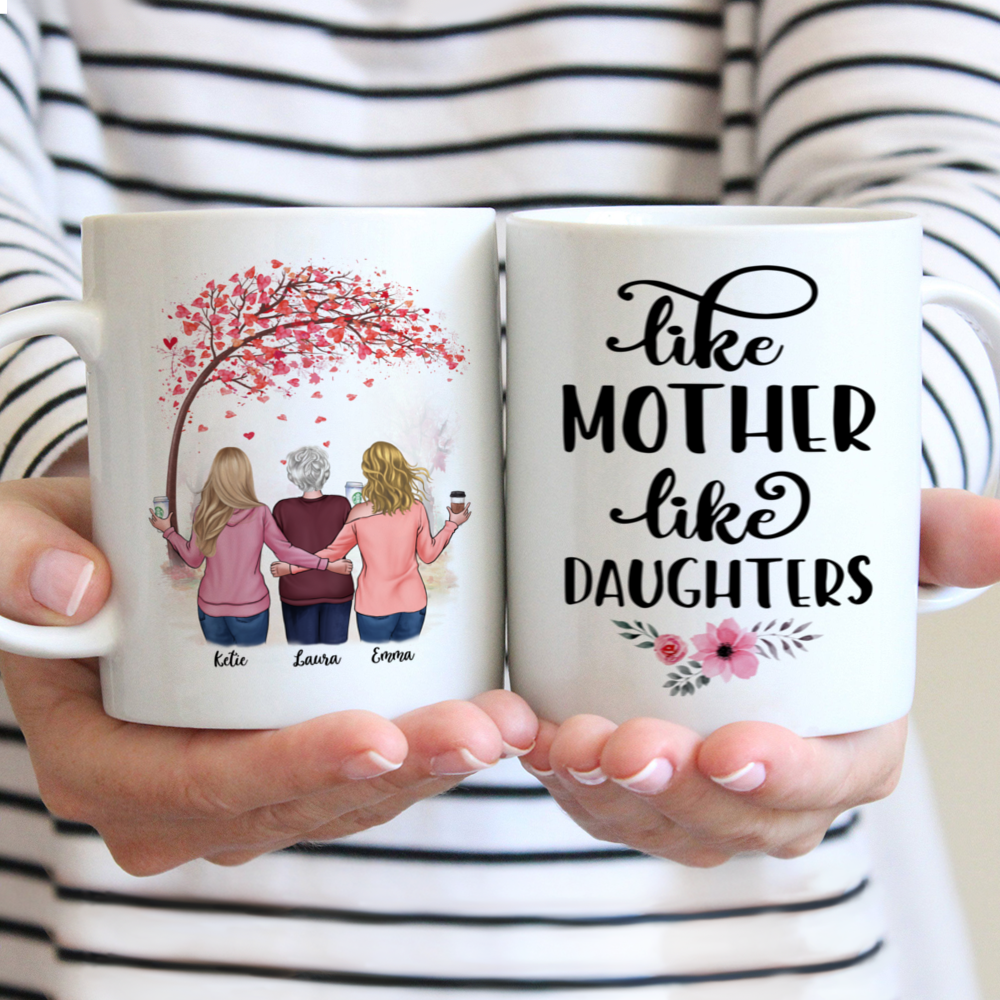 Personalized Mug - Daughter and Mother - Like Mother like Daughters - Love 2