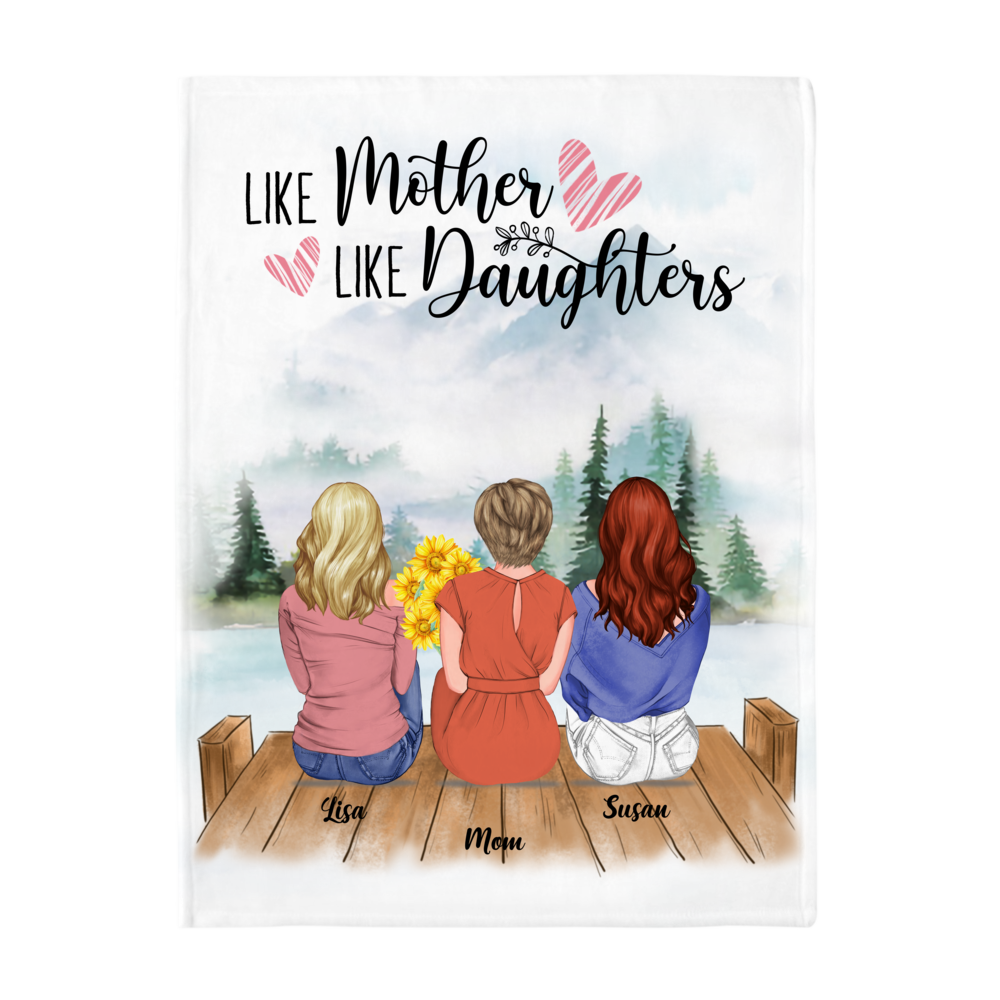 Personalized Blanket - Daughter and Mother Blanket - Like mother like daughters (Mountains)_2