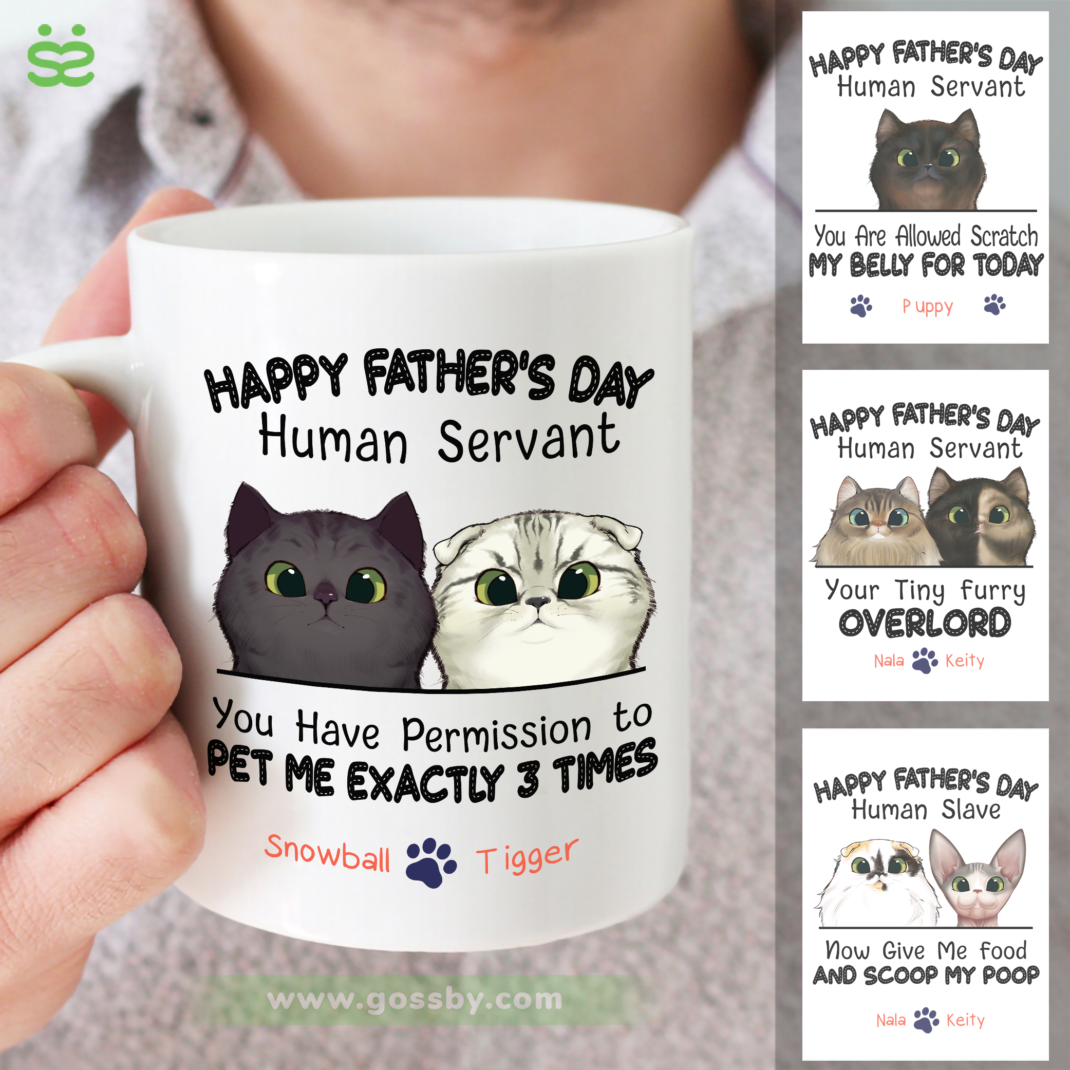 Personalized Mug - Happy Father's day - You can pet me exactly 3 times (2)