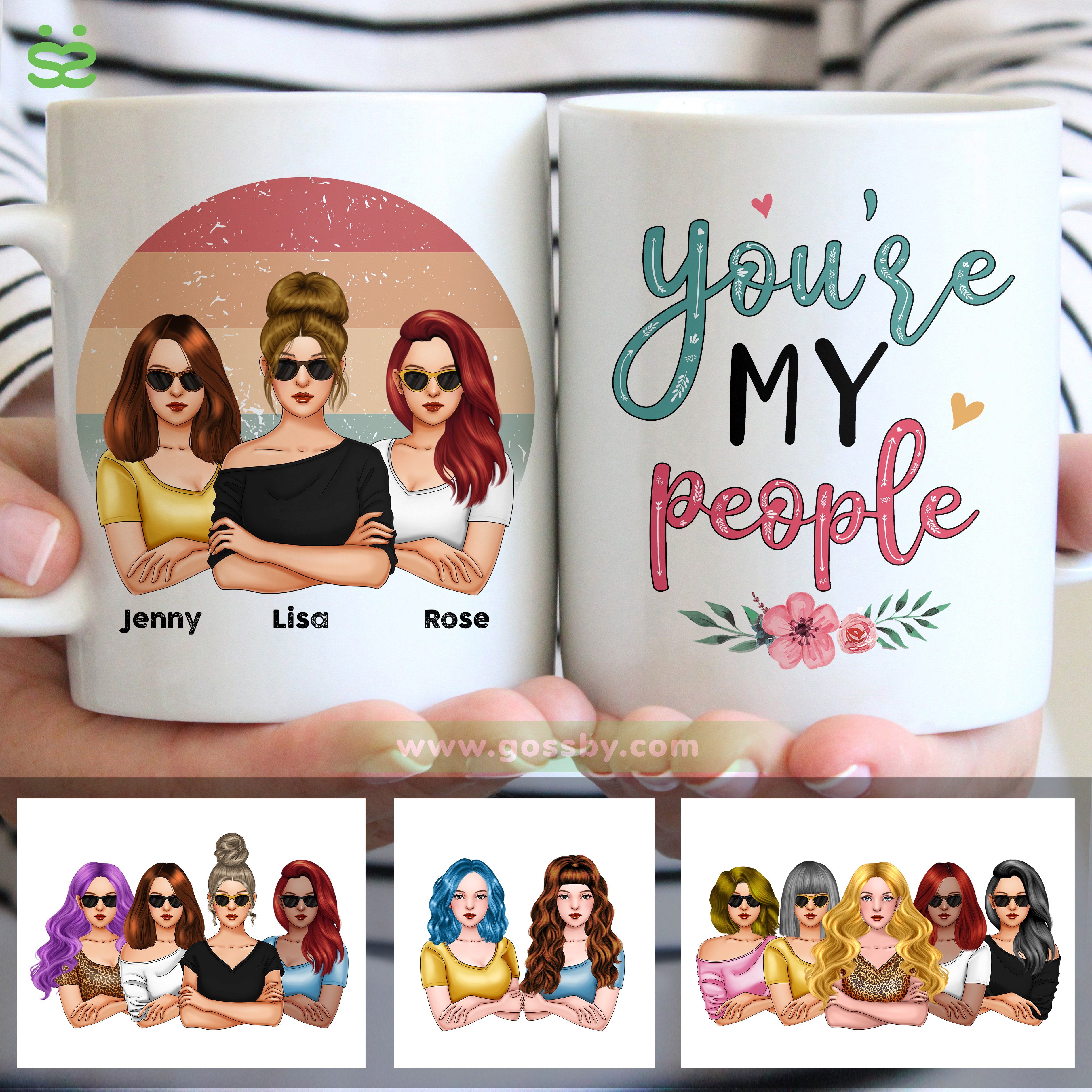 Personalized Mug - Friends - You're My People (V3)