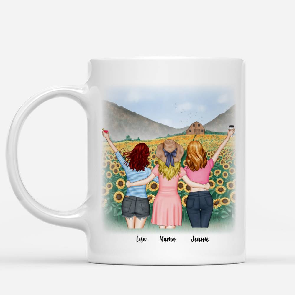 Mother and Daughters will always be connected by heart - Sunflower- - Red_1