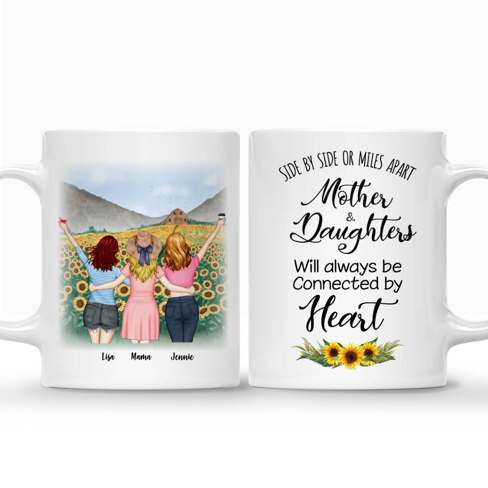 Mother and Daughters will always be connected by heart - Sunflower- - Red_3