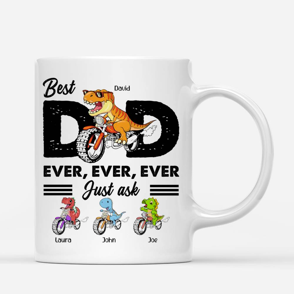 Personalized Mug - Father's Day - Best Dad Ever (Dinosaur)_2