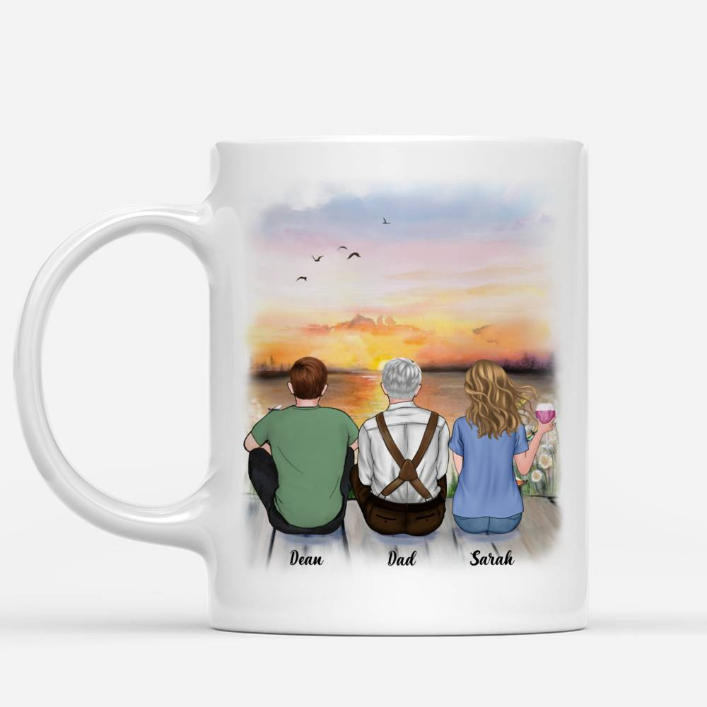 Personalized Mug - Father And Children Forever Linked Together | Gossby_1