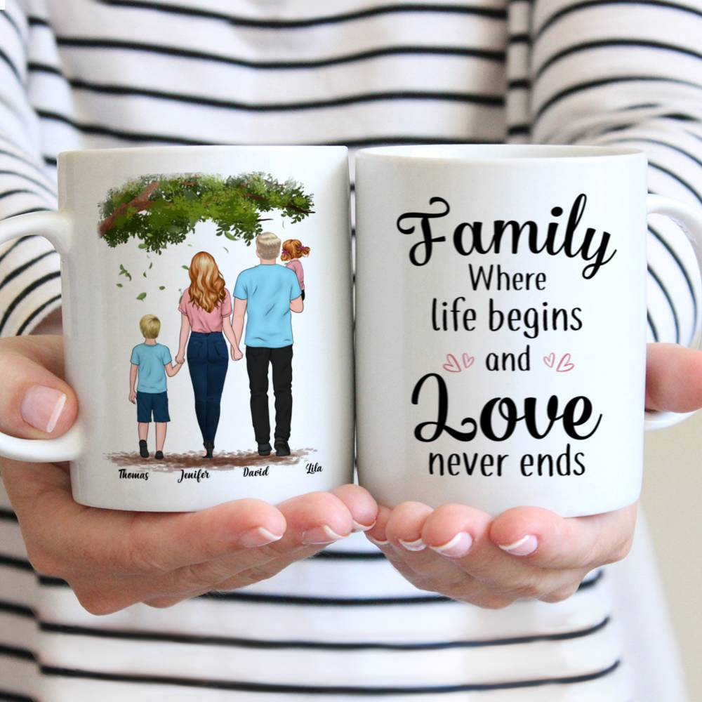 Personalized Mug - Family - Family where life begins and love never ends
