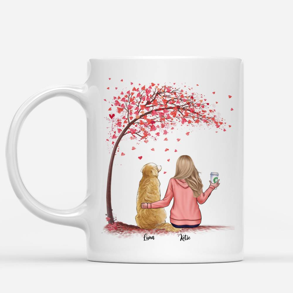 Personalized Girl & Dogs Mug - Fur Mama Custom Mug (Love Version)_1