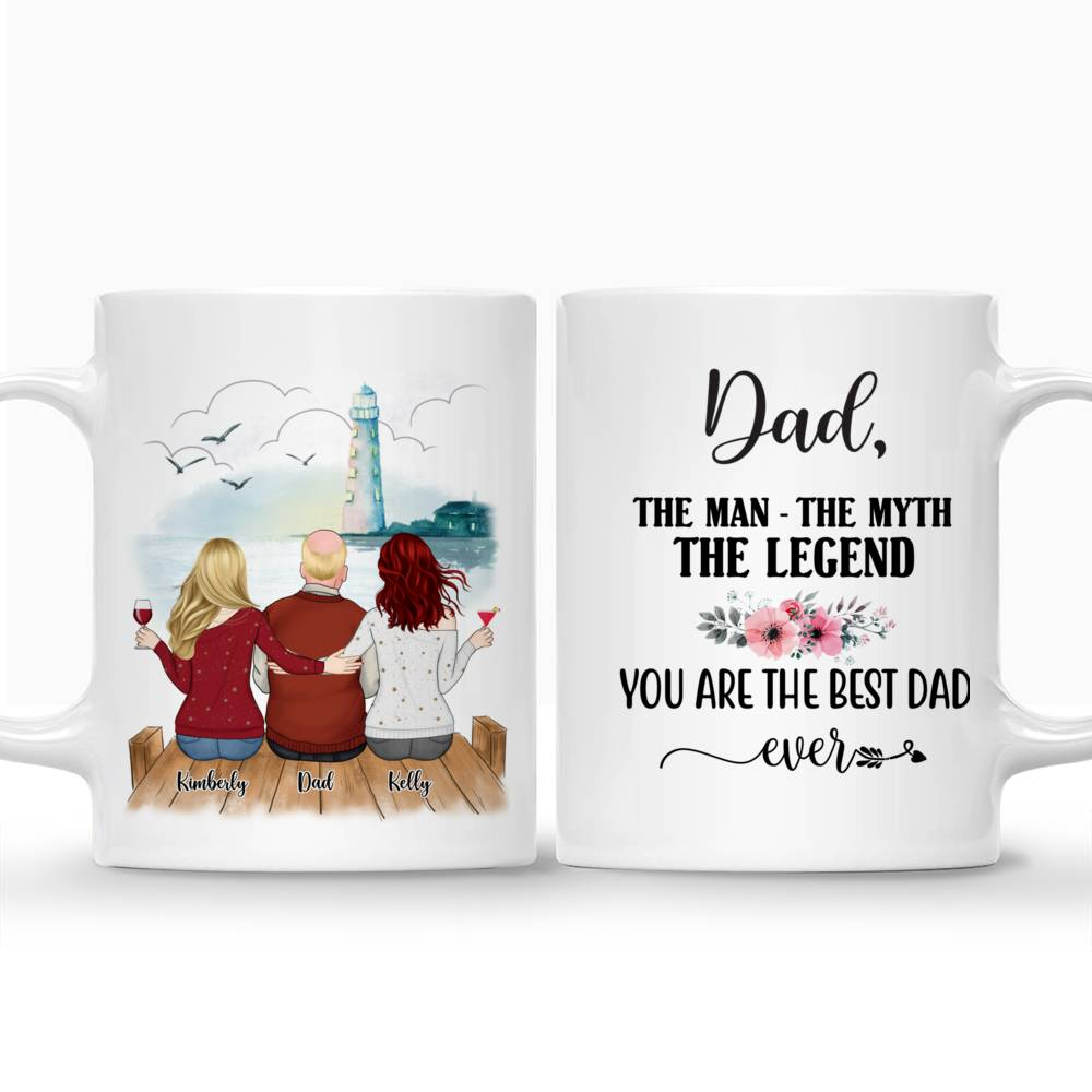 Personalized Mug - Family - Dad, The Man The Myth The Legend. You are the best dad ever (Lighthouse)_3