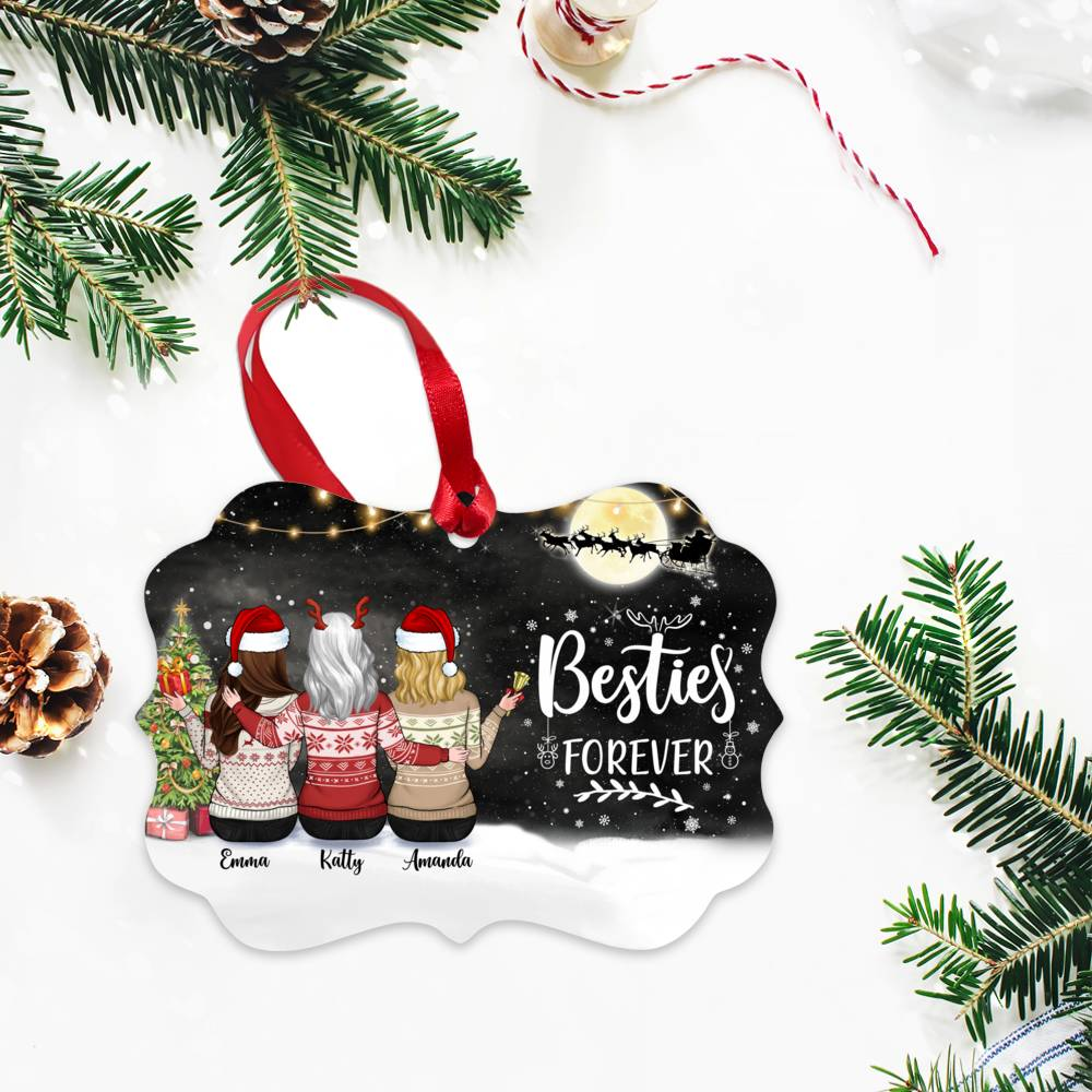 Personalized Ornament - Up to 5 Girls - Besties Forever (5395)_2