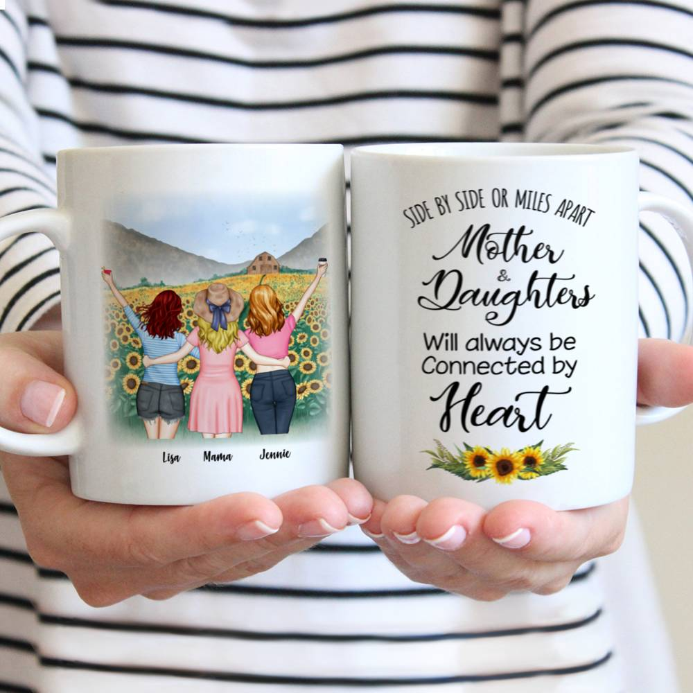 Mother and Daughters will always be connected by heart - Sunflower- - Red