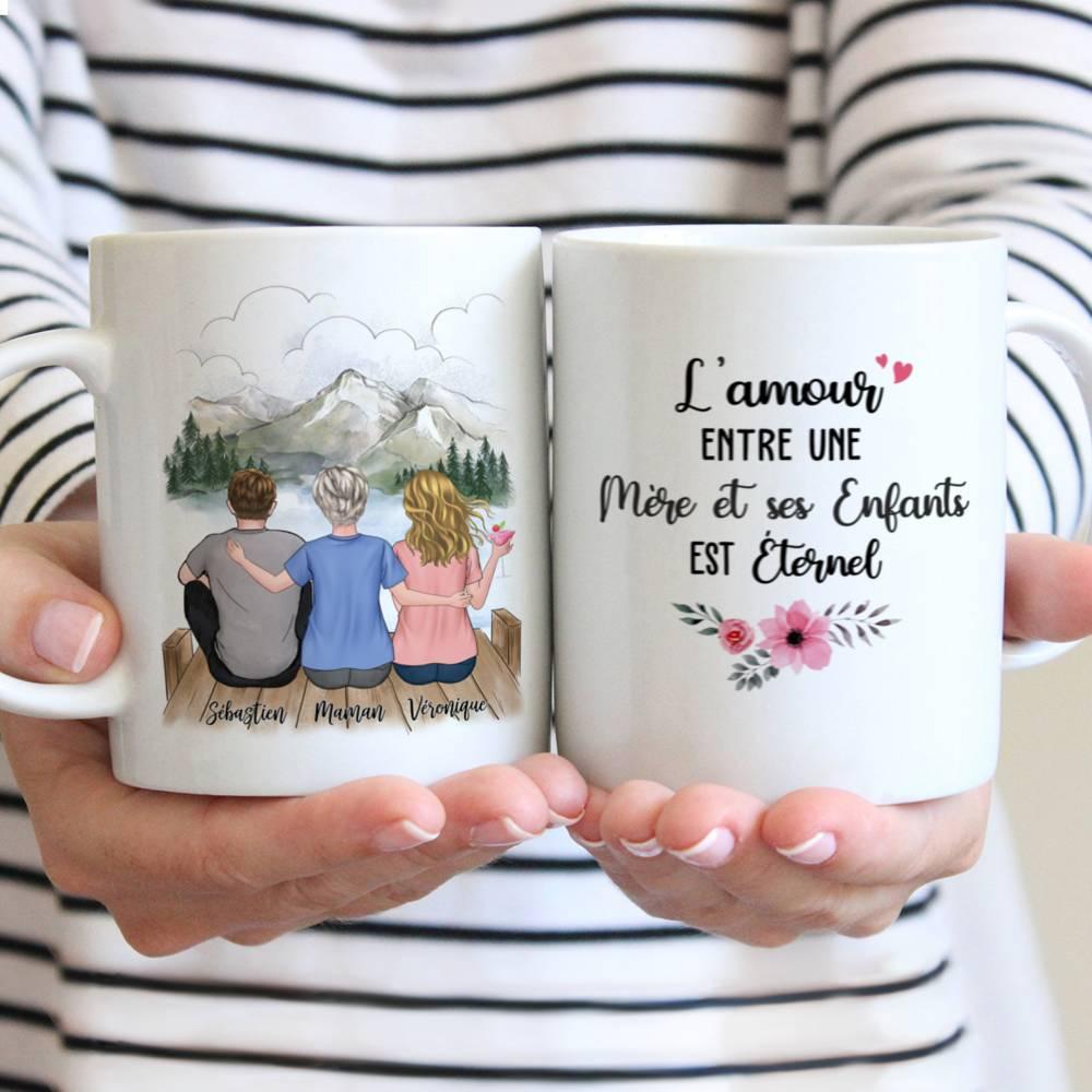 Personalized Mug - Mère et ses Enfants - L'amour entre une mère et ses enfants est éternel (5266)