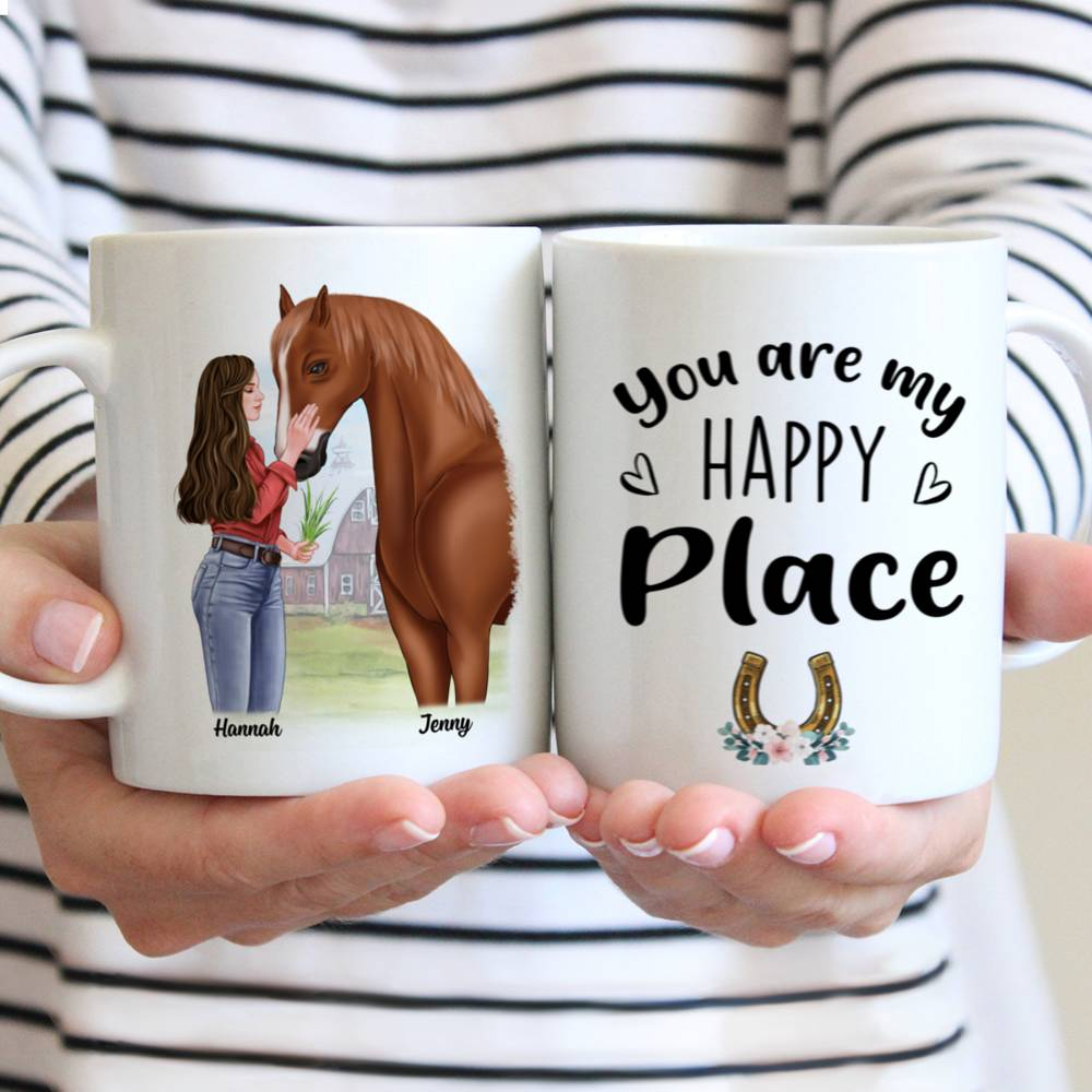 Personalized Mug - Horse Lovers - You are my happy place