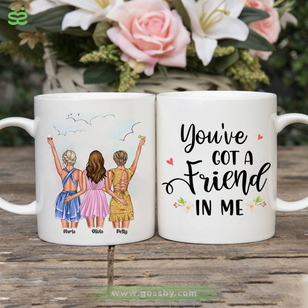 Personalized Mug - Best friends - Up to 5 girls - You've  got a  friend  in me (6490)_1