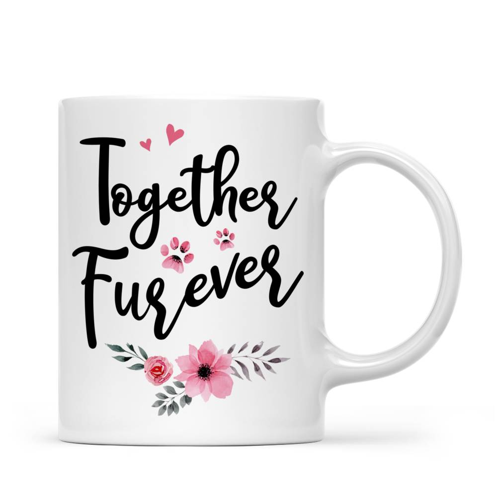 Personalized Mug - Girl and Dogs - Together Furever (575)_2