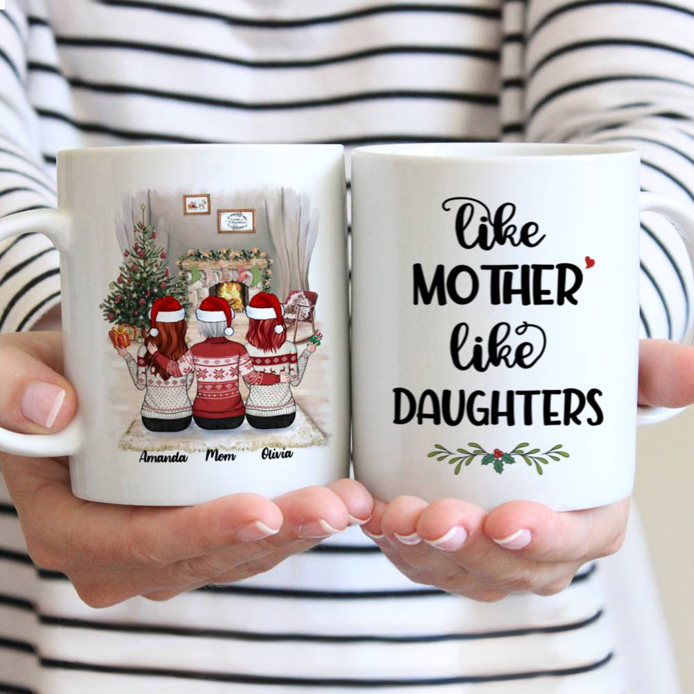 Personalized Mug - Mother & Daughter Xmas - Like Mother Like Daughters