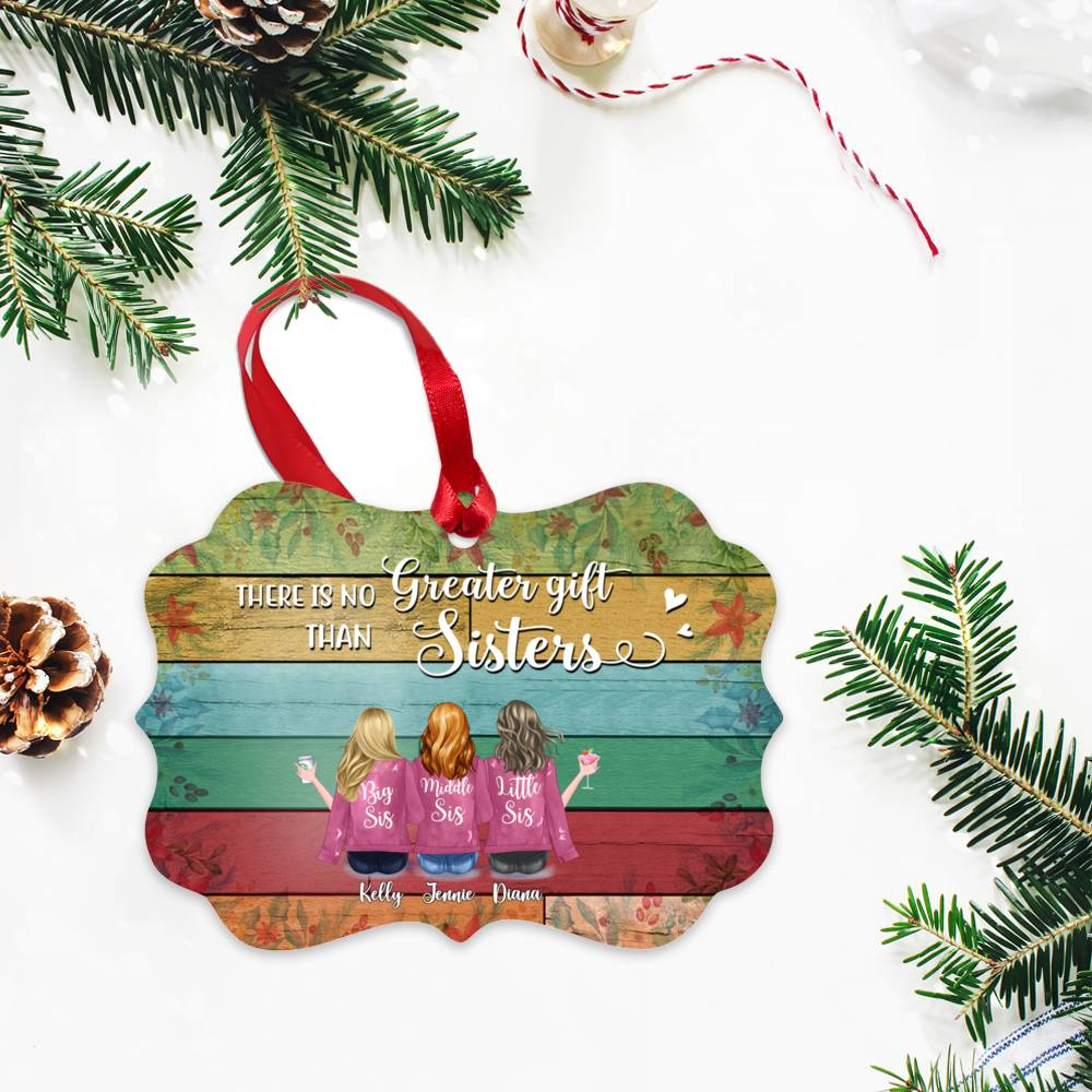 Personalized Ornament - Up to 7 Women - Ornament - There is no greater gift than sisters (BGC)_2