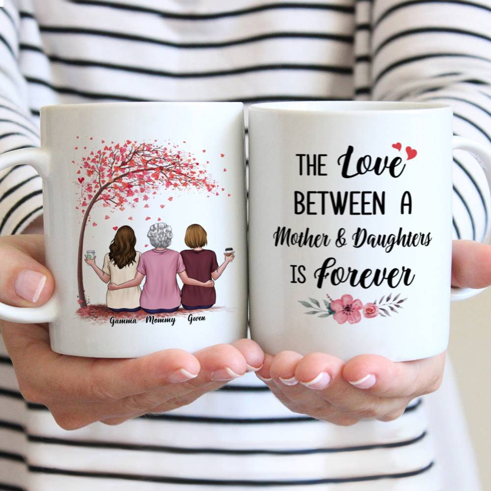 Personalized Mug - Mother & Daughter - The Love Between A Mother And Daughters Is Forever - Love