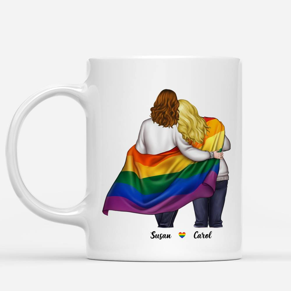 Personalized Mug - LGBT Couple - To my Girlfriend I may not be able to solve all of your problems, but I promise you wont have to face them alone_1