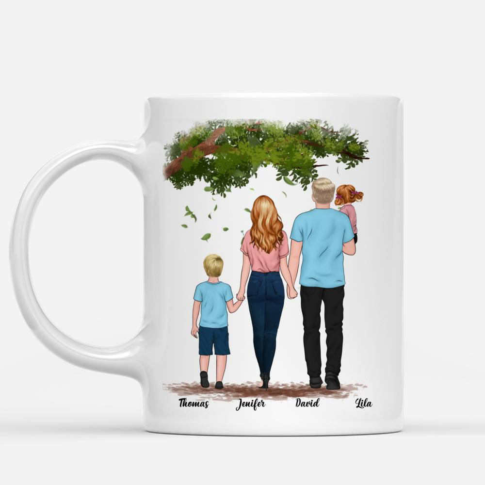 Personalized Mug - Family - Family where life begins and love never ends_1