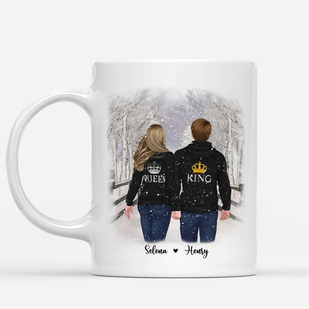 Personalized Mug - Winter Romance - To my Girlfriend I may not be able to solve all of your problems, but I promise you wont have to face them alone_1