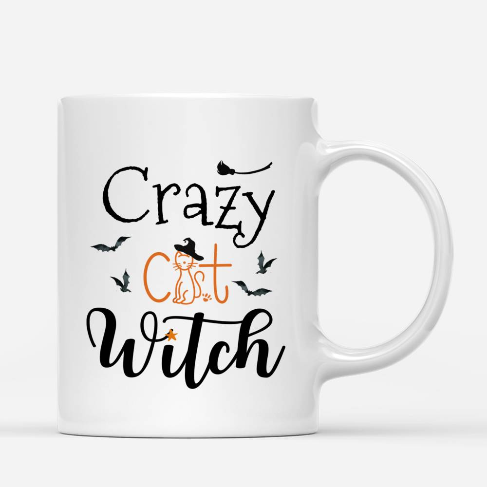 Personalized Witch and Cats - Crazy Cat Witch Custom Mug | Gossby_2