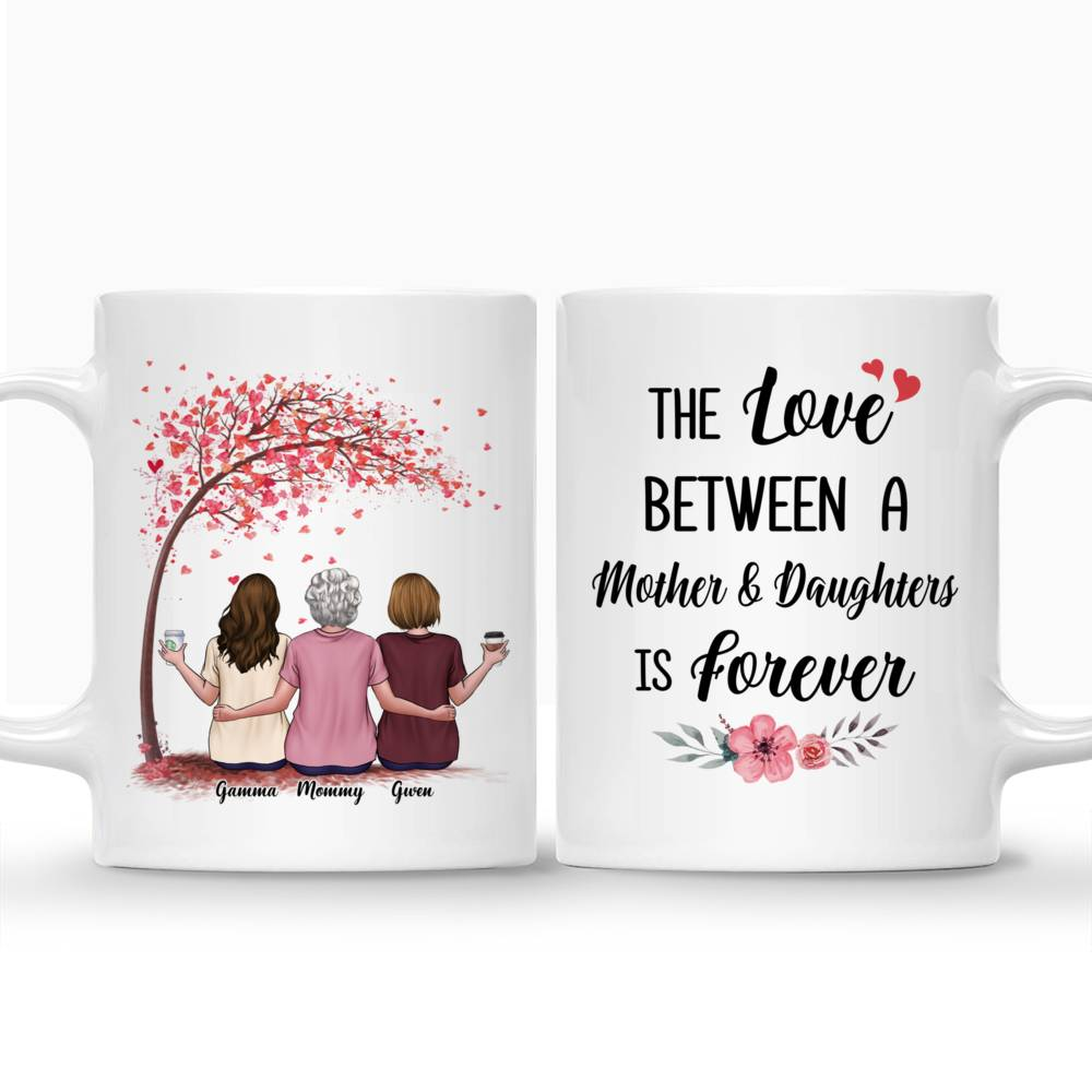 Personalized Mug - Mother & Daughter - The Love Between A Mother And Daughters Is Forever - Love_3