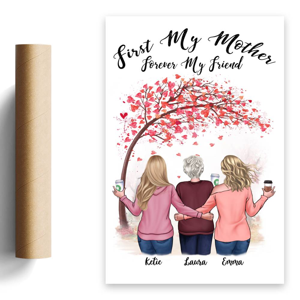 Personalized Poster - Family - First my Mother forever my friend - Love_1