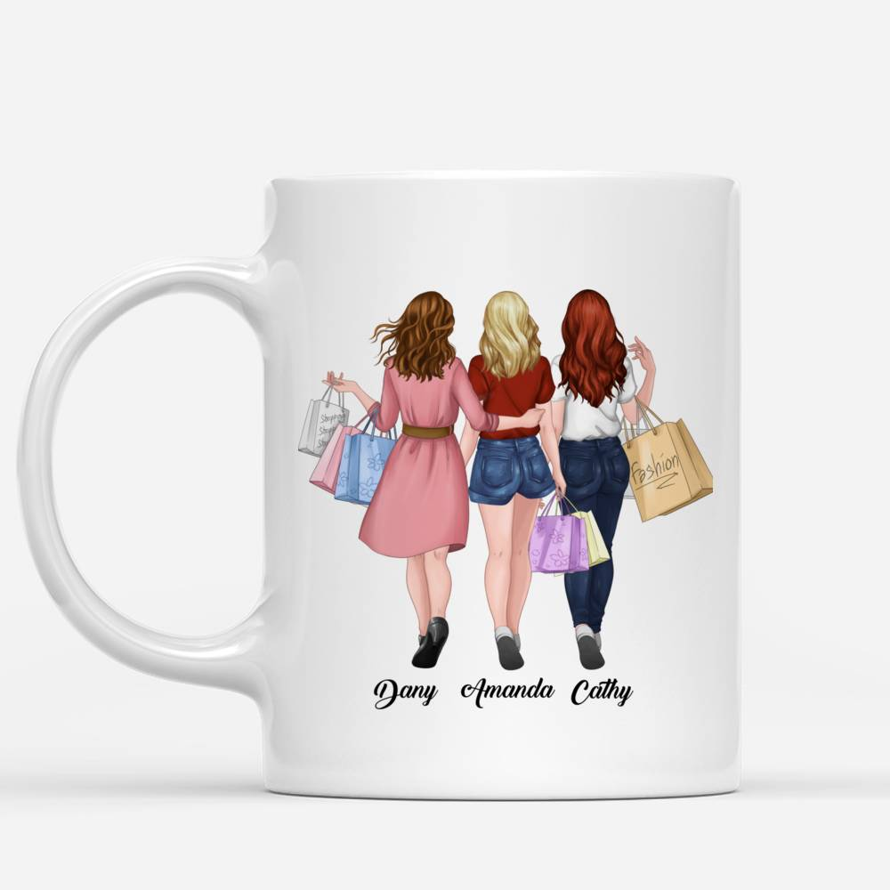 Personalized Mug - Shopping team - Because Of You I Laugh A Little Harder Cry A Little Less And Smile A Lot More_1