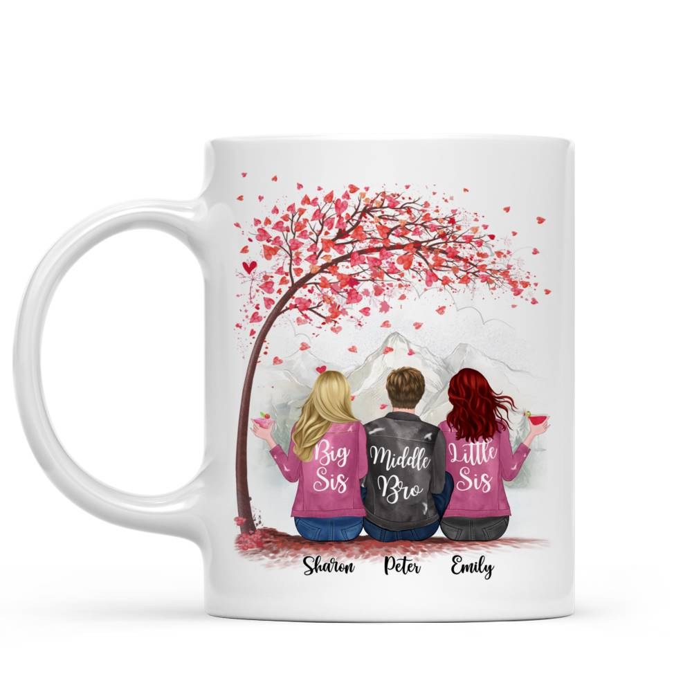 Personalized Sister Mug - Life is Better with Siblings (6071)_1