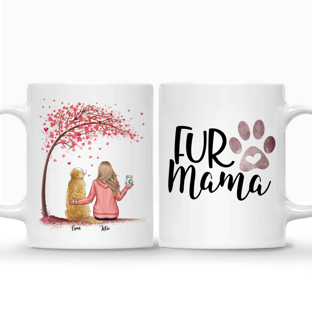 Personalized Girl & Dogs Mug - Fur Mama Custom Mug (Love Version)_3