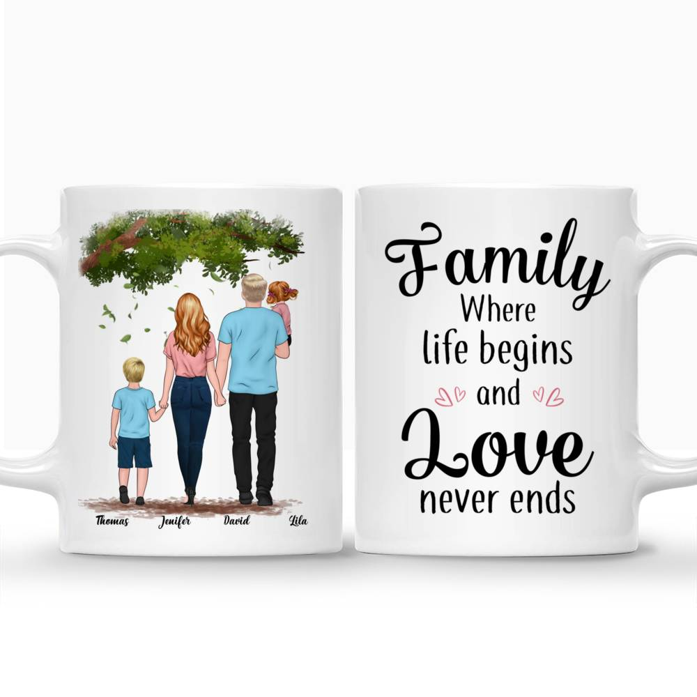Personalized Mug - Family - Family where life begins and love never ends_3