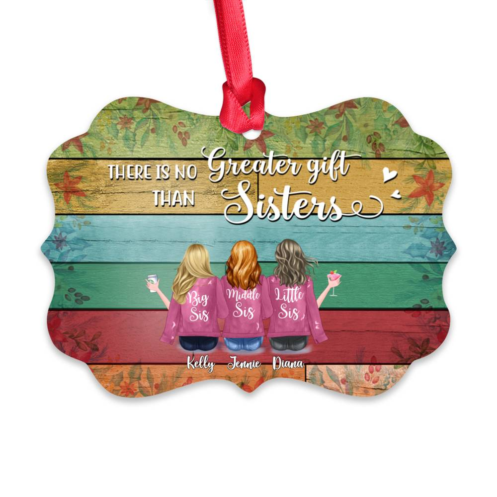 Personalized Ornament - Up to 7 Women - Ornament - There is no greater gift than sisters (BGC)_1