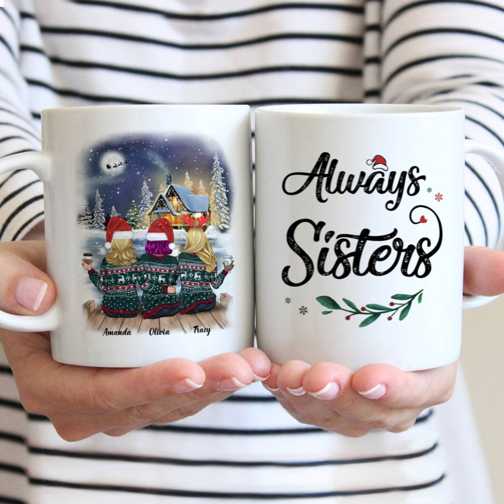Personalized Mug - Xmas Country Night Mug - Always Sisters