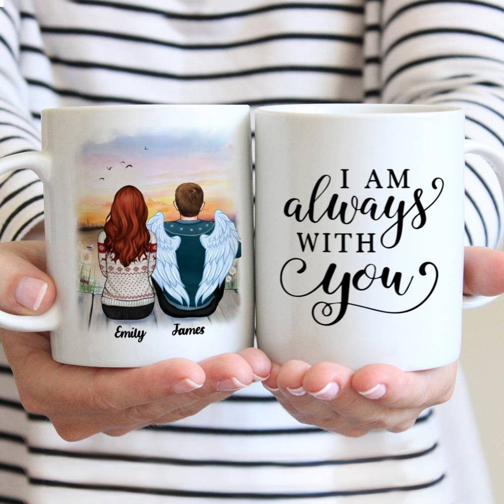 Personalized Mug - Memorial Mug - Sunset - I am always with you