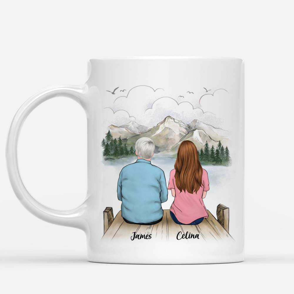Personalized Mug - Father And Daughter - Dear Dad Thanks For Being My Dad If I Had A Different Dad I Would Punch Him In The Face And Go Find You_1