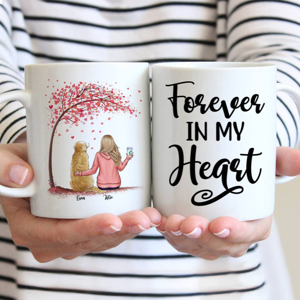 Personalized Mug - Forever In My Heart Custom Mug (Love Version)