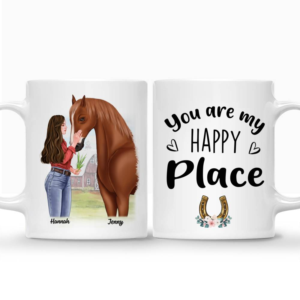 Personalized Mug - Horse Lovers - You are my happy place_3