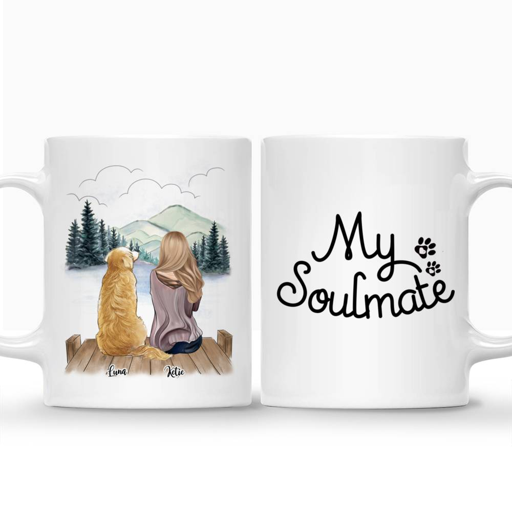 Personalized Mug - Girl and Dogs - My Soulmate_3