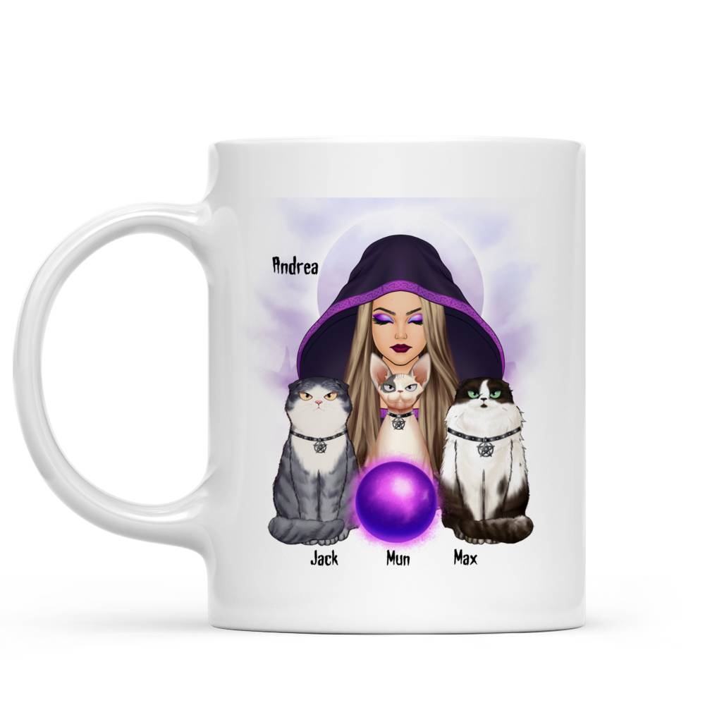 Personalized Mug - Halloween - Cat Witch - Never mind  the witch  beware of  the cat_4